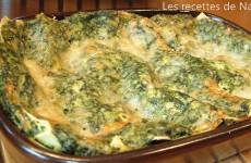 Lasagnes aux épinards et parmesan