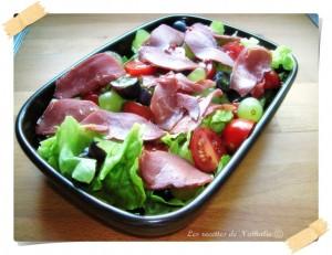 salade de magret de canard fumé