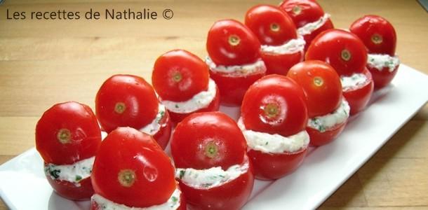 Tomates cerises au chèvre
