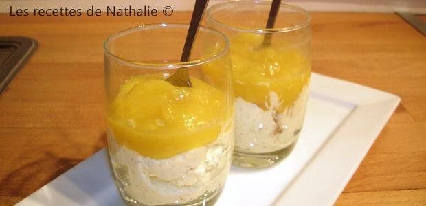Mousse d'agrumes et coulis de mangue
