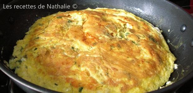 Omelette au chèvre et menthe