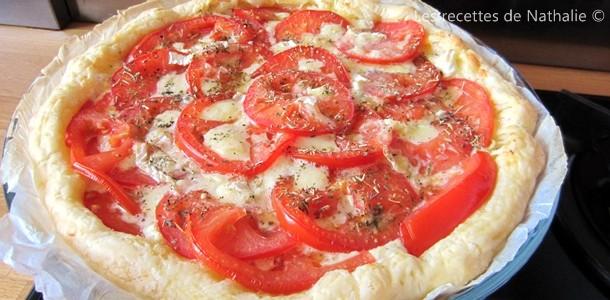 Tarte au Camembert et à la tomate