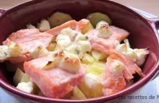 """Gratin de saumon au boursin """"inavouable"""""""