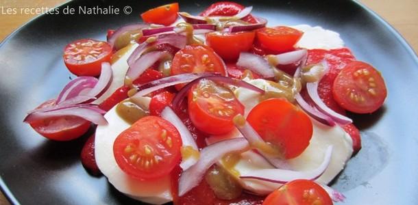 Salade de tomates cerises à l'italienne
