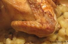 Poulet rôti aux 40 gousses d'ail