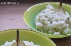 Risotto gorgonzola et poire