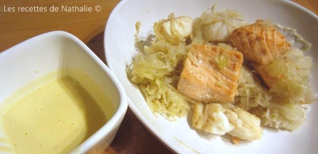 Choucroute de la mer, sauce au beurre blanc