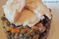 Salade de lentilles et merlu