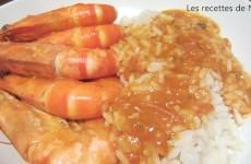Crevettes à la tomate et au pastis
