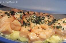 Papillote de ravioles et de saumon