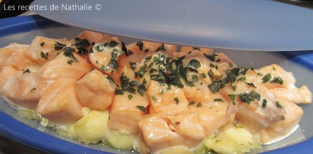 Les recettes de nathalie papillote de ravioles et de saumon - Saumon papillote au four ...