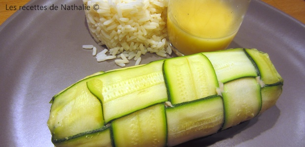 Tresses de courgettes au saumon