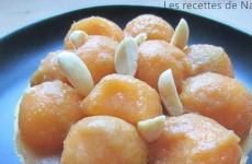Tarte au melon, fromage frais et Noilly Prat