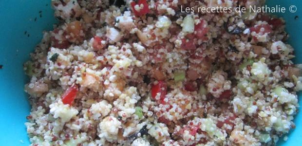 Salade de quinoa (fond de frigo)
