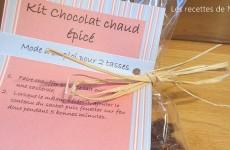 Kit pour chocolat chaud épicé à offrir