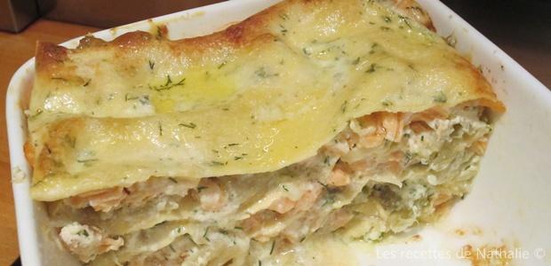 Lasagnes saumon ricotta et poireaux