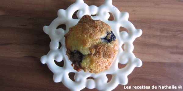 Muffin croquant aux myrtilles